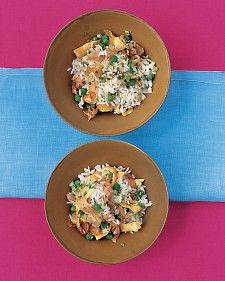 Fried Rice with Ham. Use up leftover rice in this delicious one-dish meal.