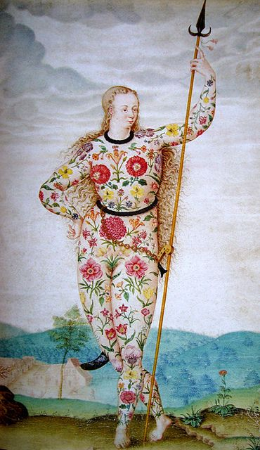 Young Daughter of the Picts, ca. 1585, attributed to Jacques Le Moyne de Morgues (c. 1533 – 1588)
