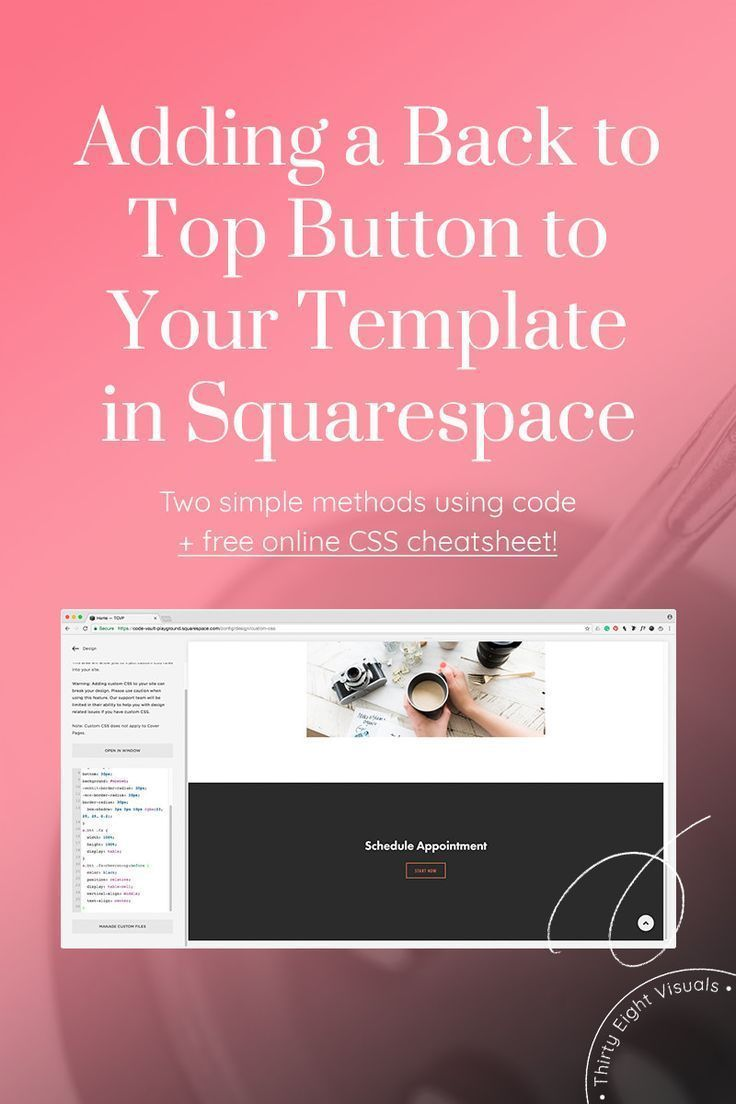 Adding a sticky back to top button in your Squarespace site
