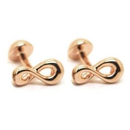 Babette Wasserman - Infinity Rose Gold Cufflinks