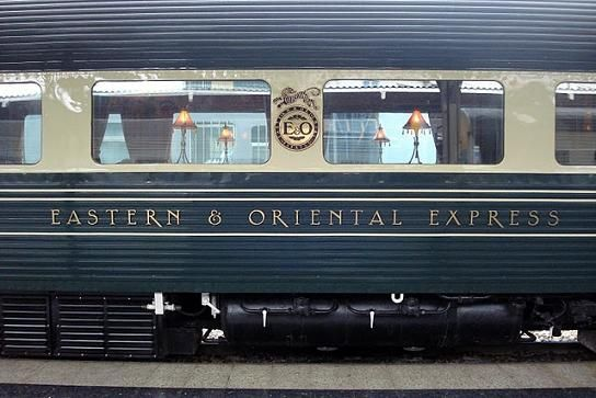 The impressive carriage of the Eastern and Oriental Express