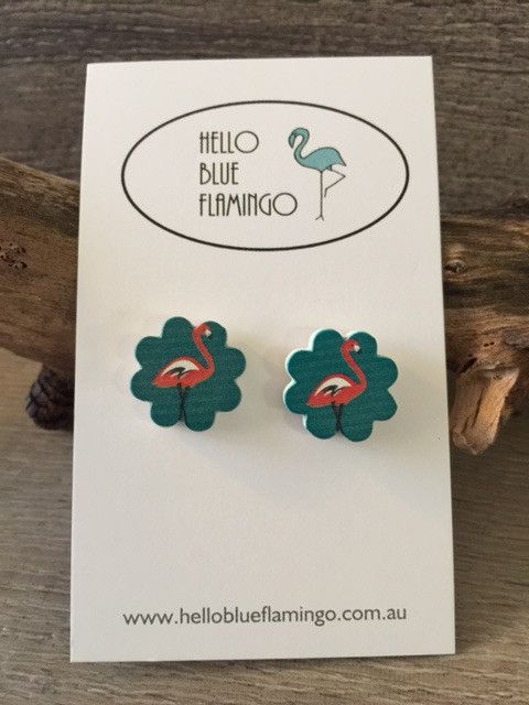 Earrings - Flamingo