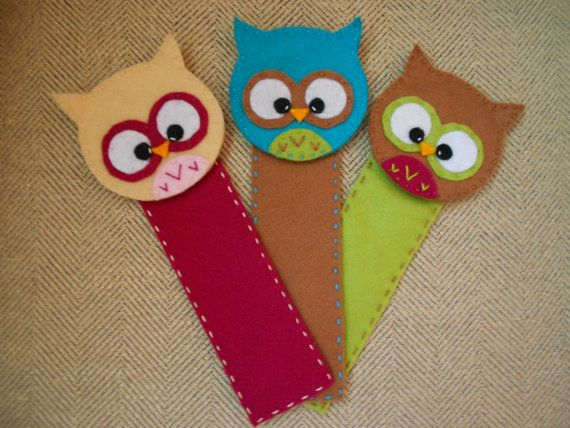 Owl Felt Bookmarks