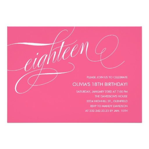 436 best 18th Birthday Party Invitations images on Pinterest