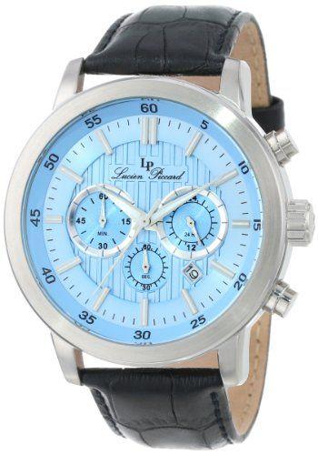 Lucien Piccard Men's 12011-012 Monte Viso Chronograph Light Blue Textured Dial Black Leather Band Watch Lucien Piccard,http://www.amazon.com/dp/B00E96B16S/ref=cm_sw_r_pi_dp_CplUsb145TGP0VEF