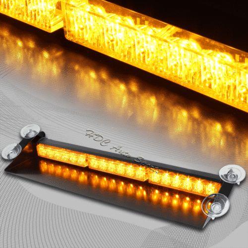 18 LED Amber & Yellow Emergency Warning Dash Flash Strobe Light Bar Universal 4