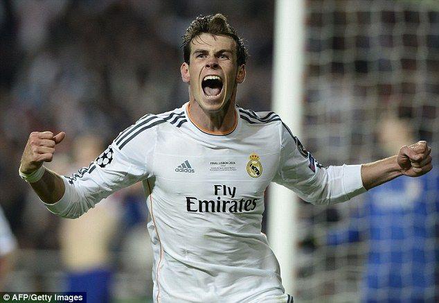 Real Madrid 4-1 Atletico Madrid (AET) - Champions League final Gareth Bale goal celebration