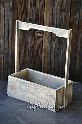 "Ящик для цветов ""Долина цветов"" цвет серый (270х140х95хН350), арт.7778"