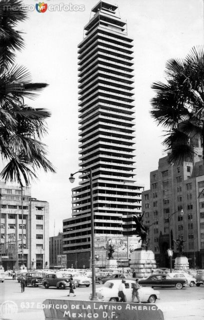 ConstruccióndelaTorreLatinoamericana. Ca. 1955.