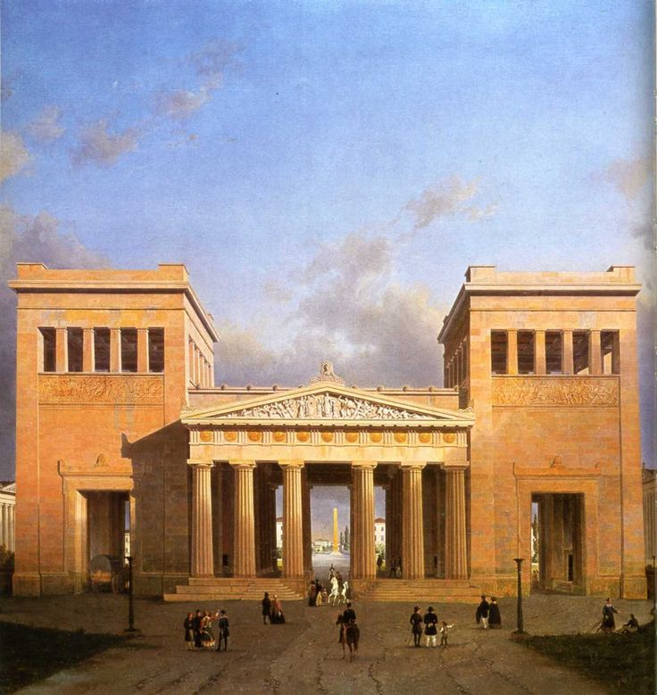 Leo von Klenze's Propylaeum on the Königsplatz in Munich
