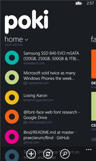 Windows Phone Poki Home