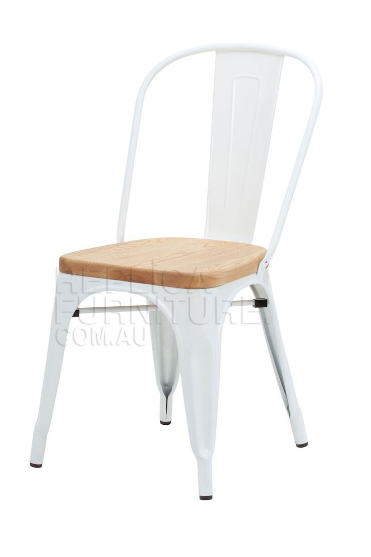 Replica Xavier Pauchard Dining Chair with Wood Seat | Outdoor Chairs | Replica tolix style chairs