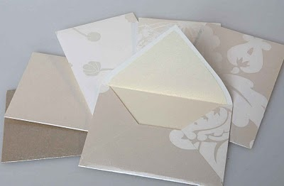 Wedding invitations - I made the envelopes of wallpapers.