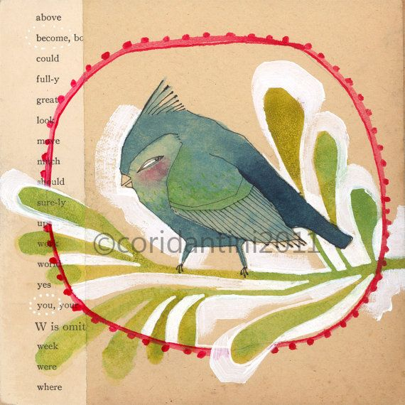 """become you""--a bird print by cori dantini"