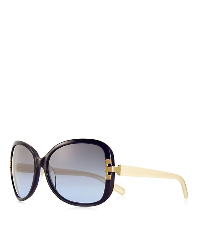 Oversized Square Sunglasses With Enamel T-hinge Tory Burch - Next accessory on my shopping list.