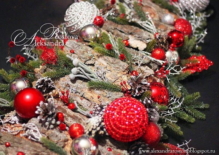 Christmas decoration, Flower arrangements