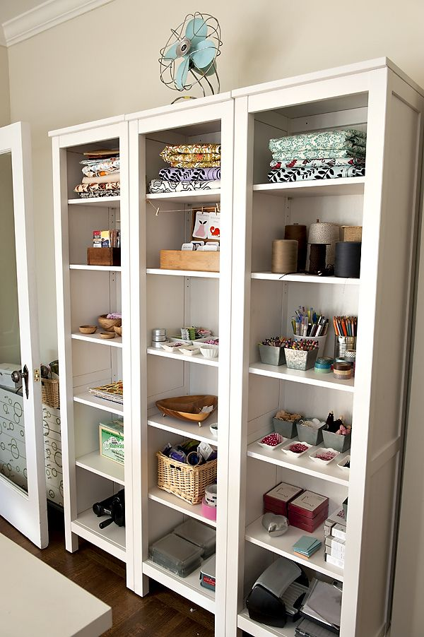 Ikea Hack Bookcase: IKEA Hemnes Narrow Bookcases With A Fan On Top