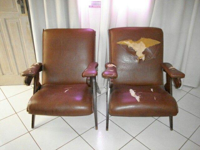 Antes-  cadeira Dracom anos 30 - projeto by Sandra Dias