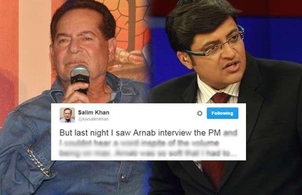 Salim Khan Slams Arnab Goswami For His Polite And Soft Demeanour