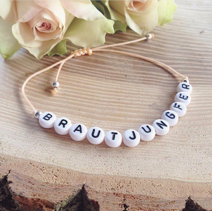 Brautjungfer Armband - eine schöne Idee eure liebsten Mädels zu fragen, ob sie Brautjungfern werden möchten...