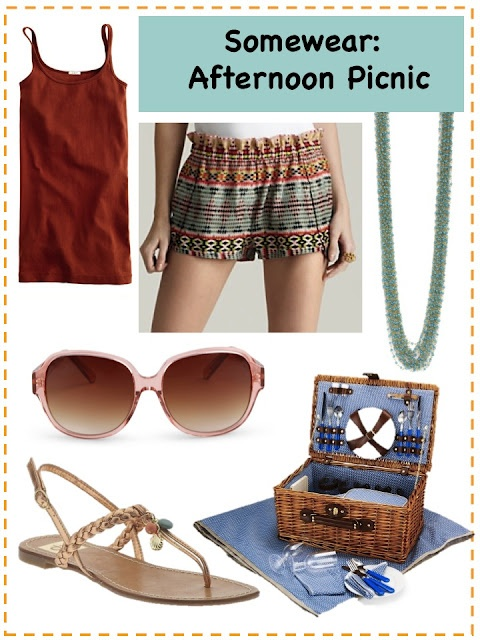 Summertime Picnic Attire from Somewear To Be  http://www.someweartobe.com/