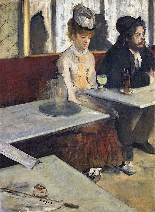 In A Cafe Painting - In A Cafe by Edgar Degas