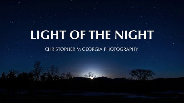 12,500+ photographs, 3,000+ miles driving, 250 miles hiked, and 500 hours later, I am very happy to present to you, Light Of The Night.   A short film capturing just a small sample of the beautiful New England star filled landscapes.  Putting this short film together has been one of the most incredible journeys I've yet to embark on.  Traveling from place to place, hiking hundreds of miles of New England's trail systems, meeting a an awesome bunch of other photographers along the way,…