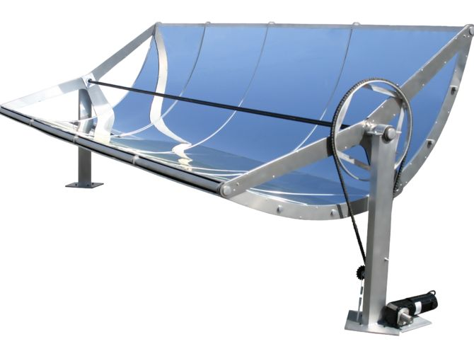 "The Hawaiian company's ""micro concentrating solar power"" troughs shrink the basic design of equipment used in large-scale solar power plants."