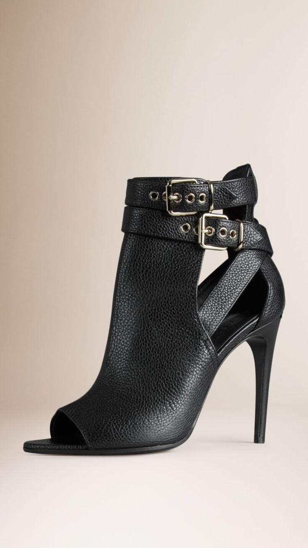 17 meilleures id es propos de bottines bout ouvert sur pinterest talons d 39 t chaussures. Black Bedroom Furniture Sets. Home Design Ideas