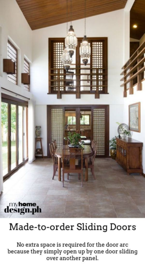 Sliding Doors Produce High Class Vivid Room Designs With Thermally Insulated Slidi Filipino Interior Design Modern Filipino Interior Philippines House Design