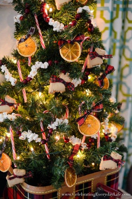 My Kitchen Christmas Tree, Natural Christmas ornaments, homemade christmas…