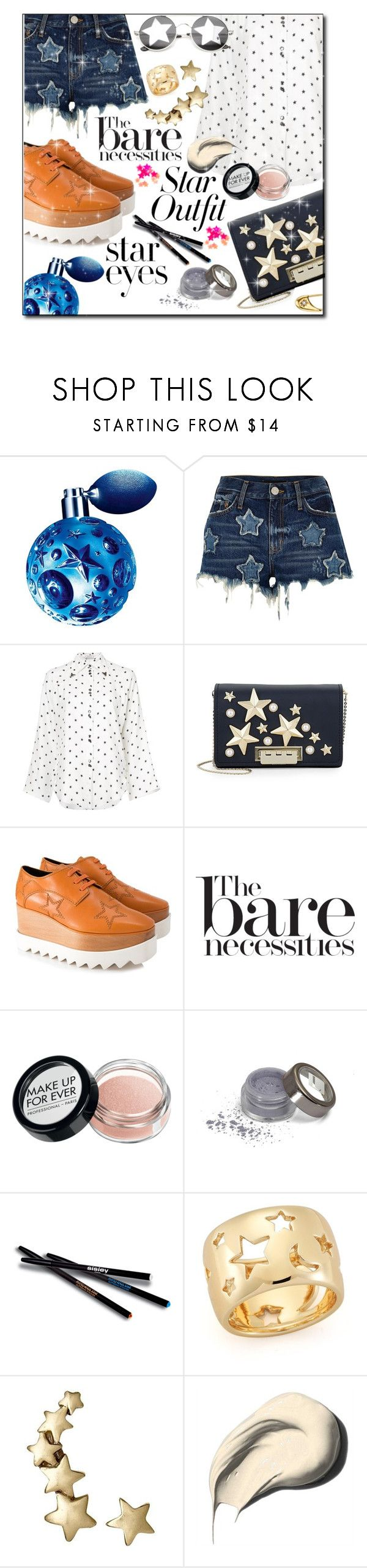 """Star fever"" by kitty-kimber ❤ liked on Polyvore featuring Thierry Mugler, River Island, Nina Ricci, ZAC Zac Posen, STELLA McCARTNEY, MAKE UP FOR EVER, Diamond Star, Sisley, Elizabeth and James and Bobbi Brown Cosmetics"