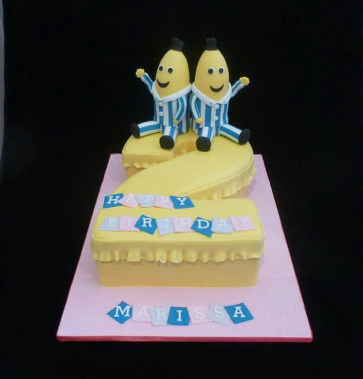 Bananas in pyjamas cake