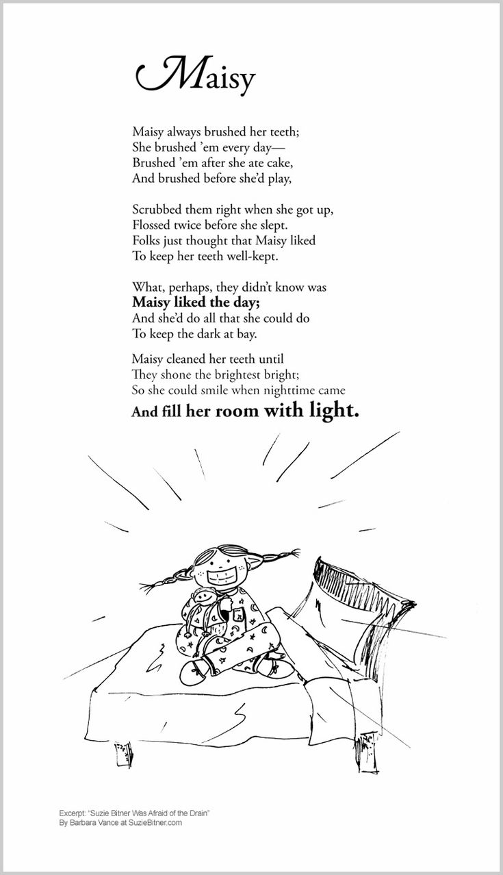 Funny Children's Poem about a girl who is afraid of the dark. Great for school and classroom activities. common core 1st grade, 2nd grade, 3rd grade reading #ESL