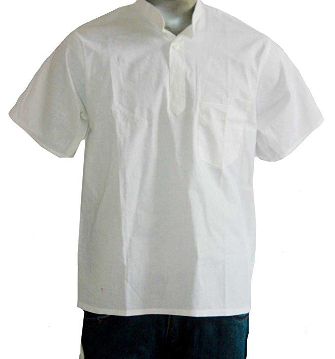 Lakkar Haveli Indian 100/% Cotton Om Print Men/'s Shirt Kurta Loose Fit Blue Color Plus Size