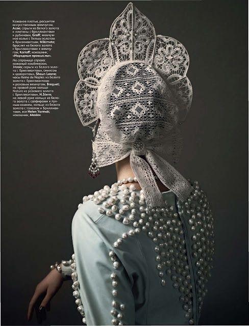 russian kokoshnik headdress | lacy kokoshnik (Russian: кокошник), a traditional Russian head ...