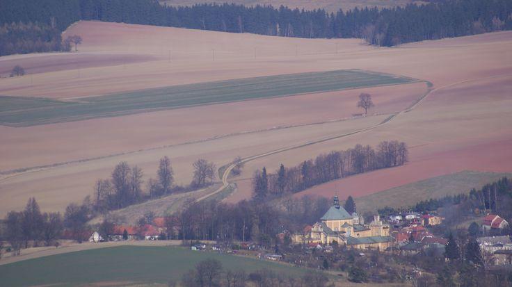widok na Wambierzyce z tarasu Pielgrzyma
