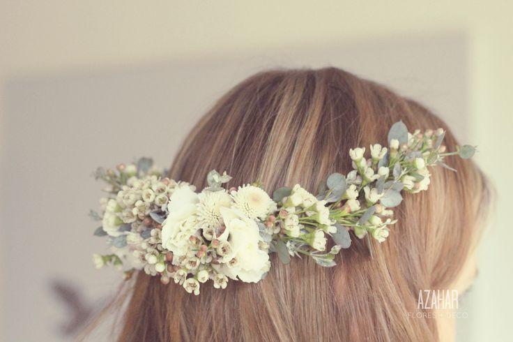 Coronas de flores! <3 #flower #crown #azahar
