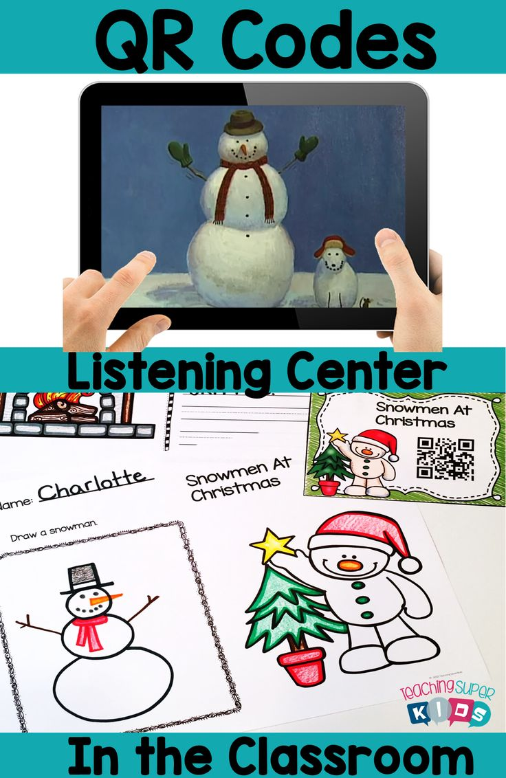Snowmen at Christmas December QR Codes for the classroom. These are perfect for Listening Centers and each one includes a student response sheet.