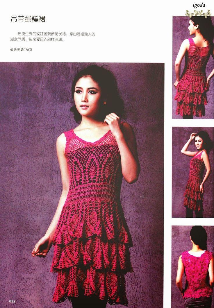 .Weekendowe szydełkowanie.: Inspiracje: szydełkowe sukienki