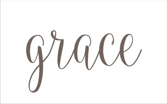 grace Sign or Pillow  STENCIL  6 sizes Create by SuperiorStencils