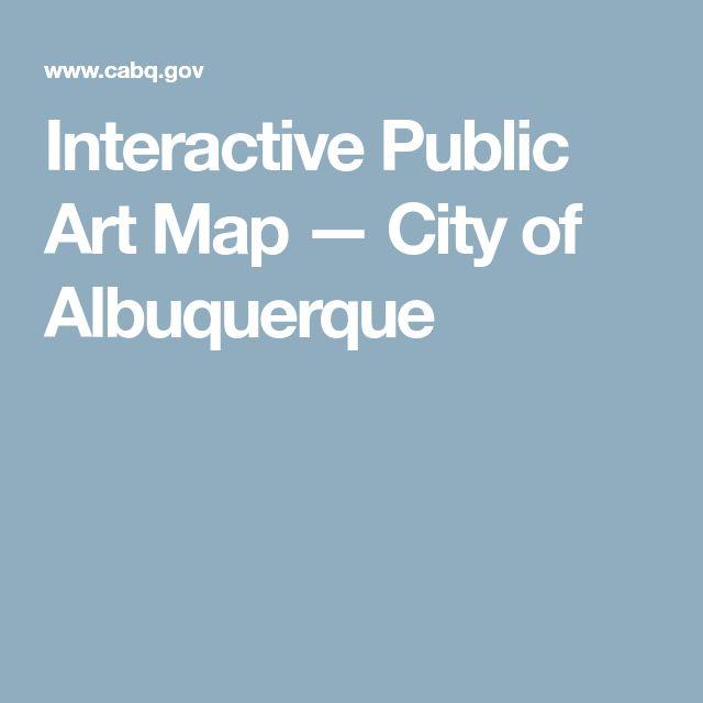 Interactive Public Art Map — City of Albuquerque