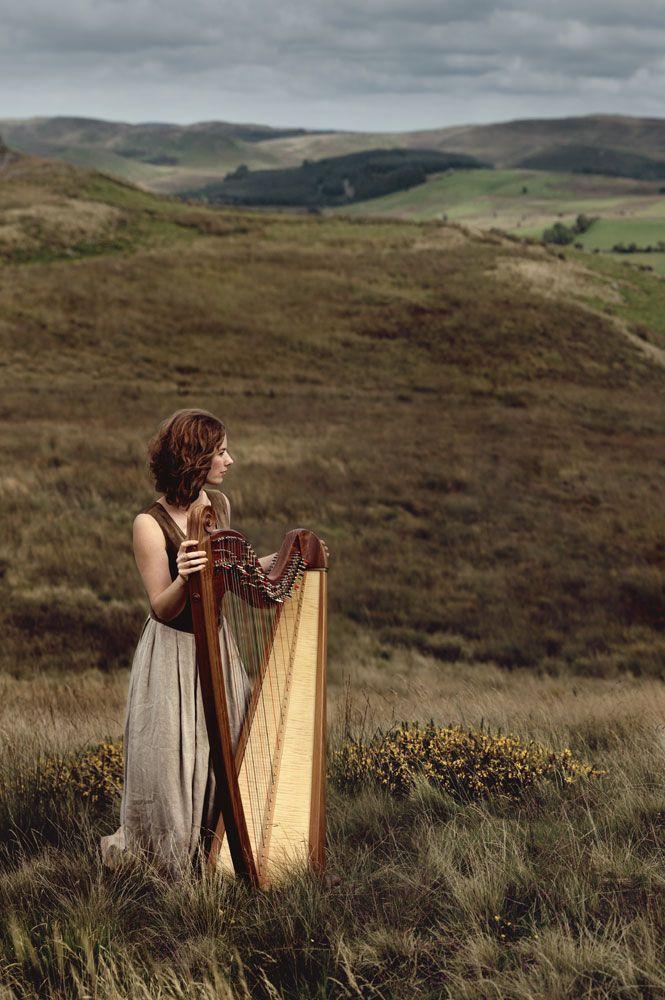 Teifi Harp on a Welsh moor