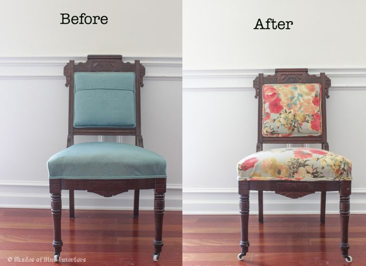 Makeover Monday Eastlake Chair With Floral Fabric Diy
