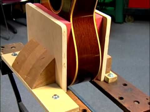 Inside the Luthier's Shop: Bending Sides jig mold acoustic archtop Benedetto Style guitar - YouTube
