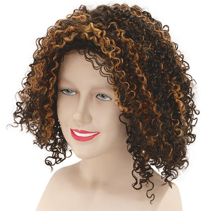 #MEL B ' SCARY SPICE' GIRLS CURLY WIG ADULT CELEBRITY FANCY DRESS ACCESSORY #Dress