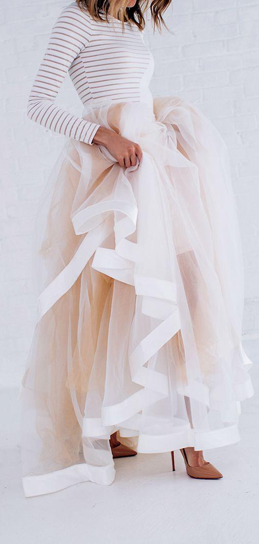 Stripes & Tulle Skirt