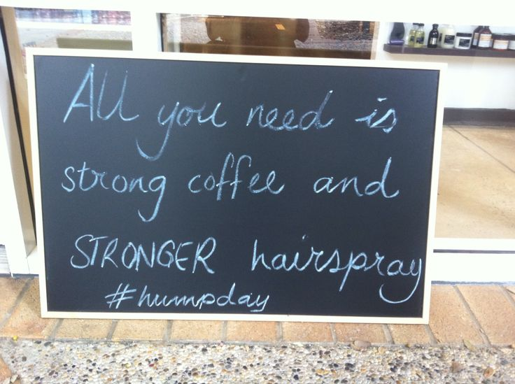 Jagged Hair daily salon inspiration/quote board. #jaggedhair #brisbane...unfortunately, somedays this is true for me!