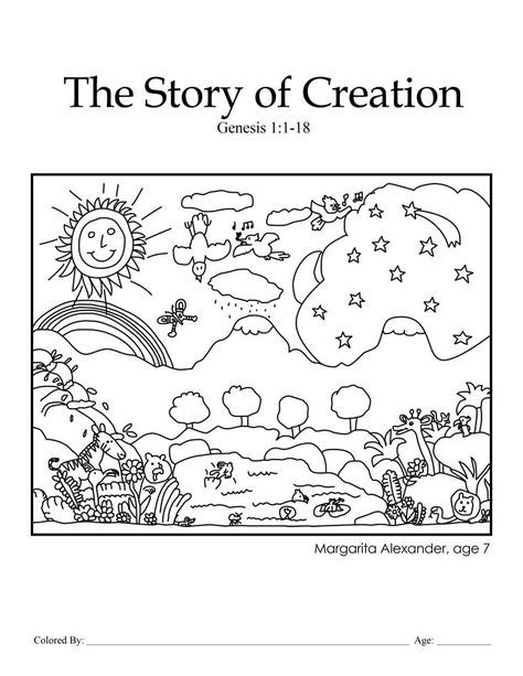 Great Creation Themed Coloring Page For Toddlers And Preschoolers