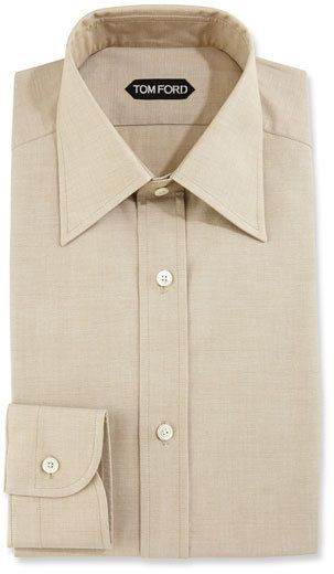 20d0e2906eed Tom Ford Slim-Fit Solid Dress Shirt, Green   Products   Pinterest ...